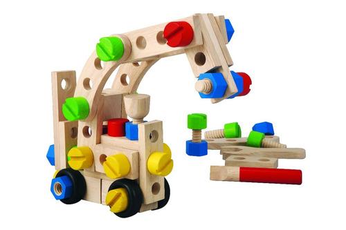 set de construccion 60p - plantoys - juguetes de madera