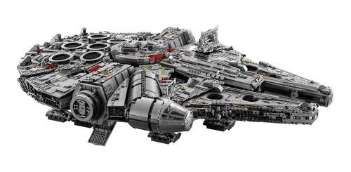 set de construcción lego star wars halcón milenario 75192