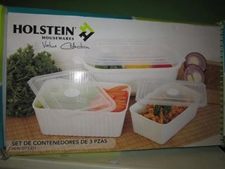 set de contenedores holstein a solo s/. 35