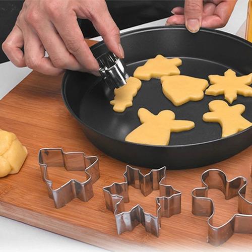 set de cortadores de galletas 6 figuras navideñas