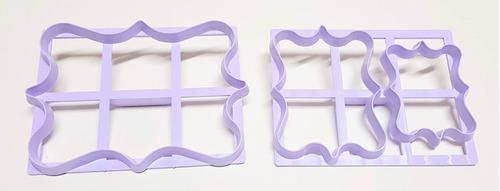 set de cortantes cartel x 3 modelo ii fondant porcelana