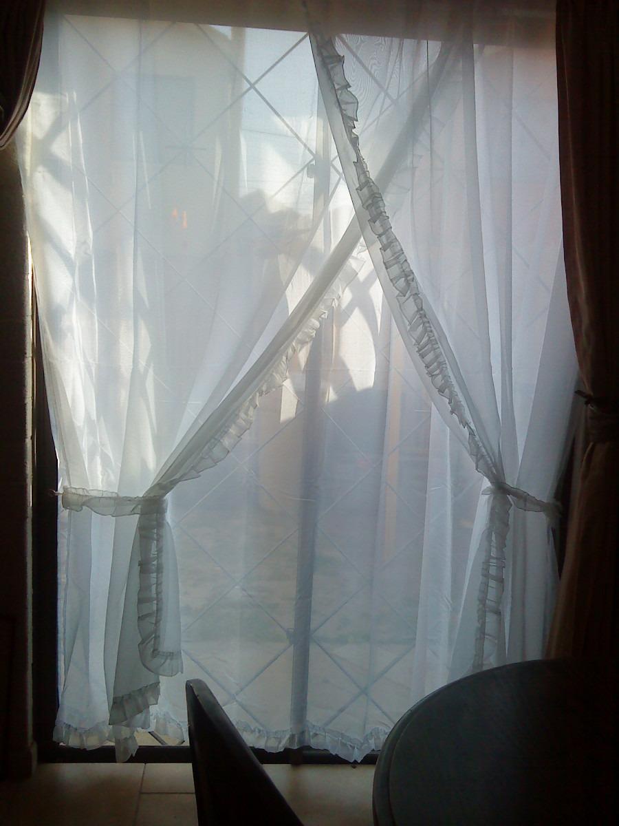 Set de cortinas de velo linea romantica en mercado libre Cortinas romanticas