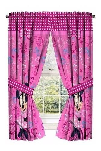 set de cortinas para habitacion  disney minnie mouse