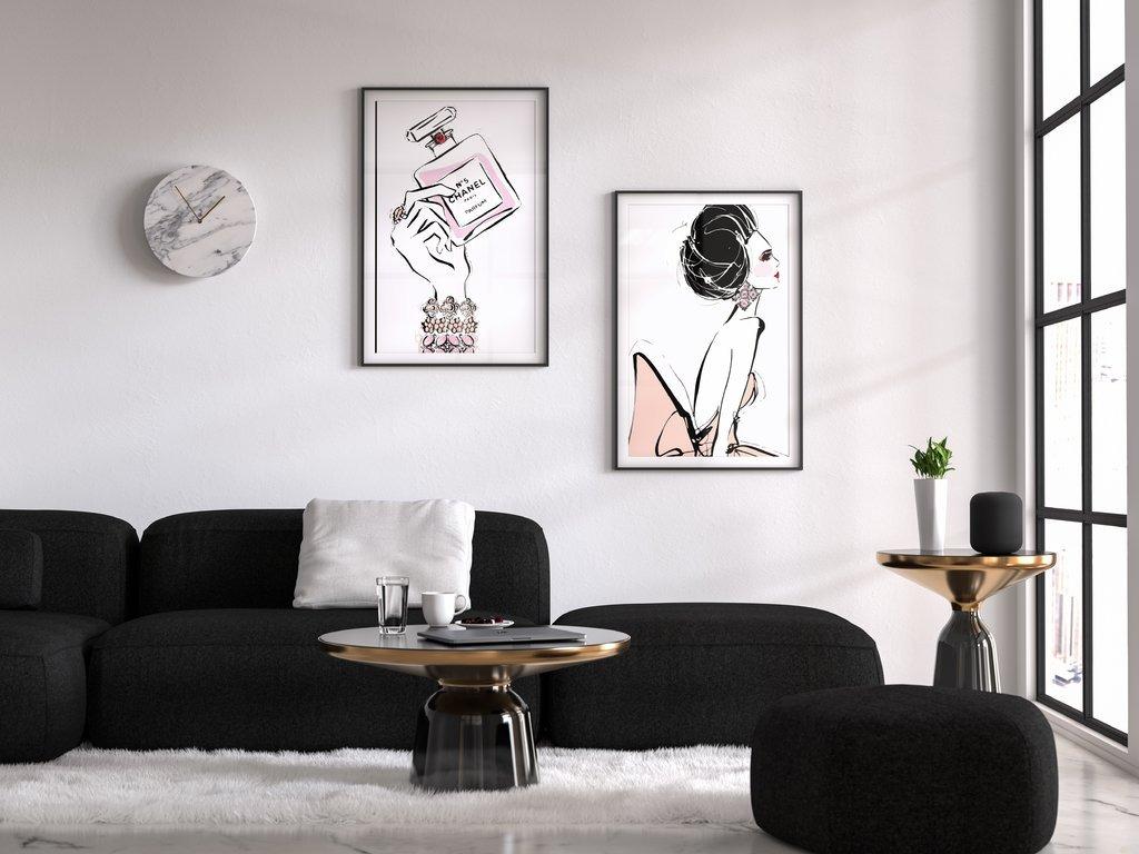Set De Cuadros Decorativa Duo Moda (20 X 30 Marco Blanco) - $ 1.070 ...