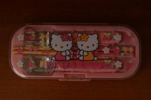 set de cubiertos hello kitty & mimmy