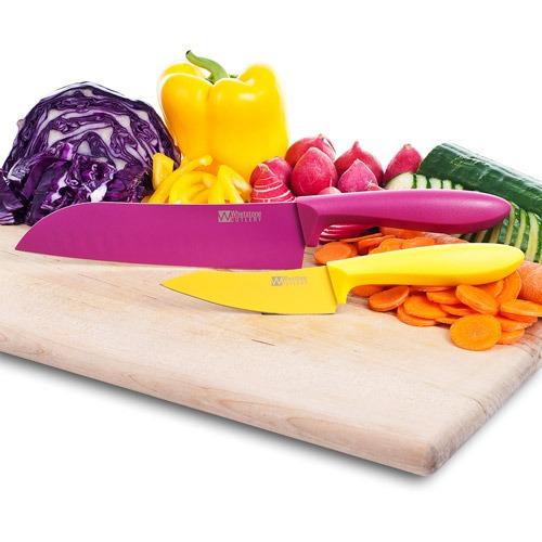 set de cuchillos de cocina 2 piezas de piedra de afilar,