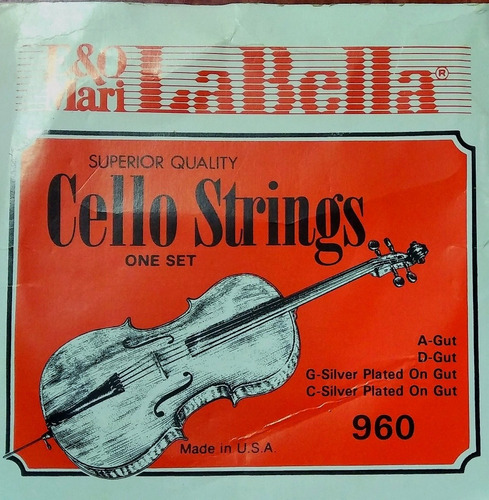 set de cuerdas para cello(la bella)960 usa