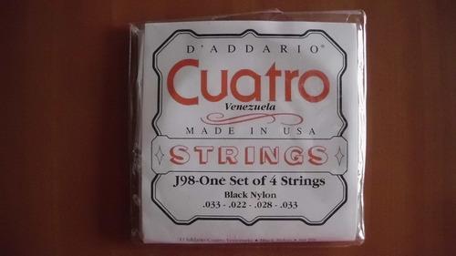 set de cuerdas para cuatro venezolano  d addario