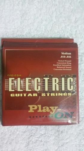 set de cuerdas para guitarra electrica.