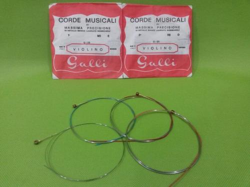 set de cuerdas para violin marca galli corde musicali