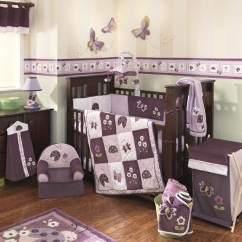 set de cuna + cinta + switch para bebe niña importado
