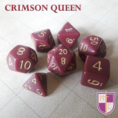 set de dados poliédricos wiz - crimson queen