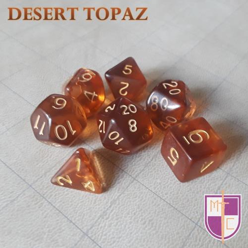 set de dados poliédricos wiz - desert topaz
