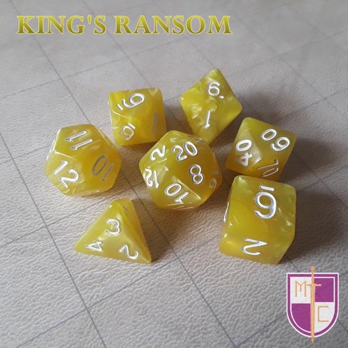 set de dados poliédricos wiz - king's ransom