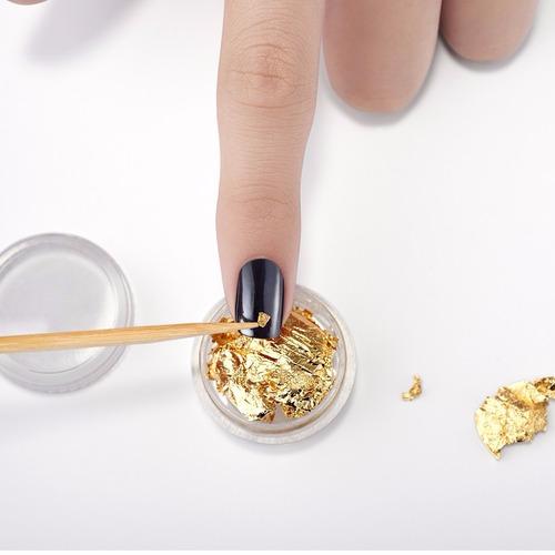set de decoración de uñas nail foil dorado  cobre cyzone