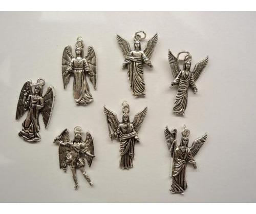 set de dijes de los 7 arcangeles en aleacion de 7 metales