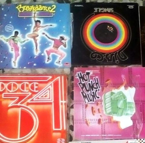 set de dos ,lp de vinilo , música dance de los 80