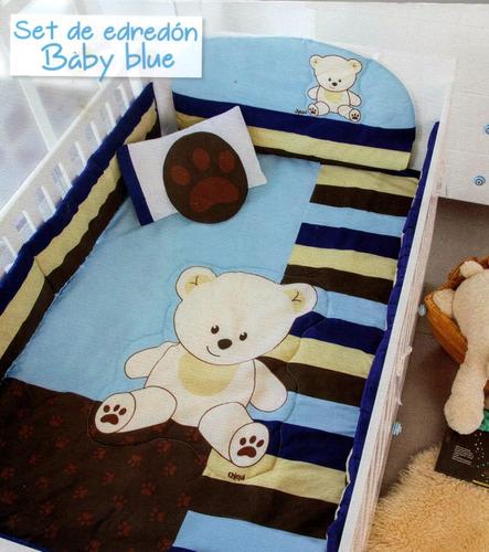 set de edredón baby blue cuna