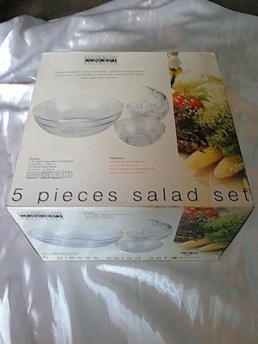 set de ensaladeras de vidrio 5 piezas (10$)
