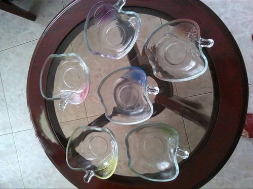 set  de envases de vidrio para servir