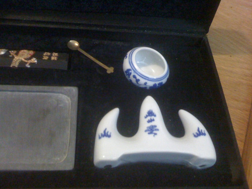 set de escritura oriental