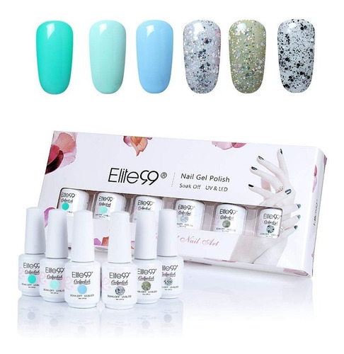 set de esmaltes elite99 uñas en gel