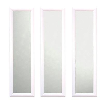 set de espejos x cm x blanco madera