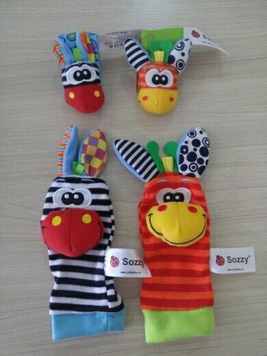 set de estimulacion para bebés modelo cebra (4 piezas)