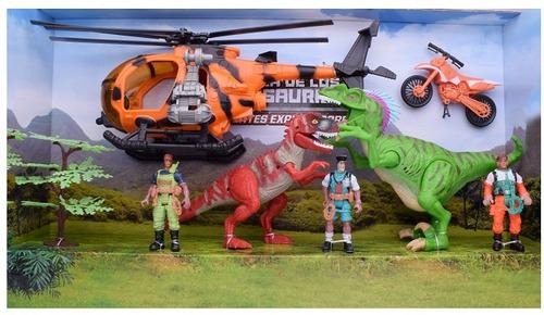 set de exploradores y dinosaurios - el duende azul