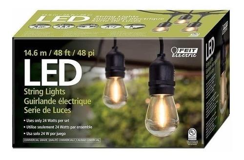 set de extensión luces led focos vintage 24 enchufes serie