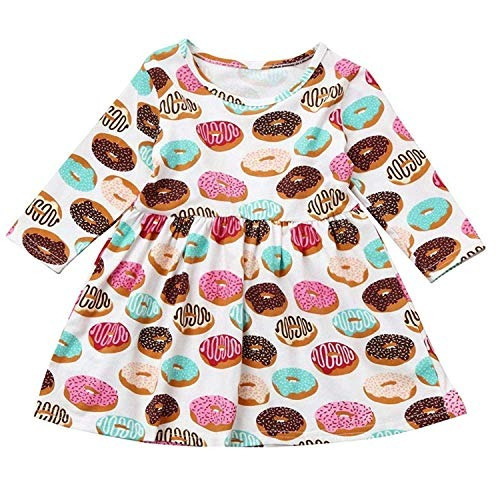 set de faldas para bebes y ninas con estampado de donut dive