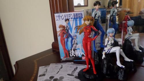 set de figuras evangelion asuka rei shinji originales