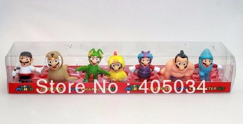 set de figuras mario bros disfraces personajes en blister