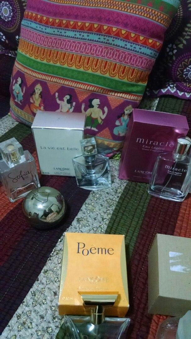 Set De Frascos De Perfumes Importados Con Cajas Lancome Etc