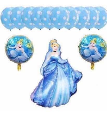 set de globos de princesa disney la cenicienta 13 pcs