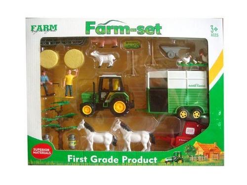 set de granja tractor valija