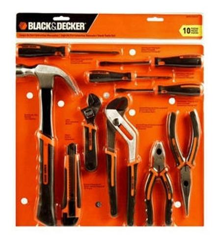 set de herramientas 10 pz black and decker (hdt51-910-la)