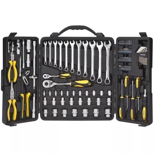 set de herramientas 110 piezas + maletin stanley pintumm