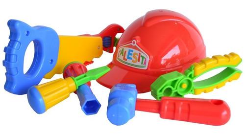 set de herramientas con casco infantil completo 453 edu