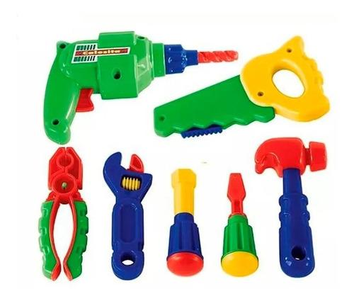 set de herramientas con taladro calesita 457 educando