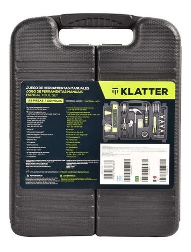 set de herramientas manuales - klatter - 122 piezas