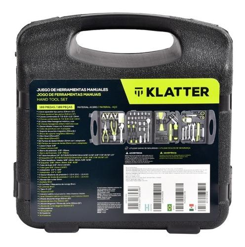 set de herramientas manuales - klatter - 189 piezas