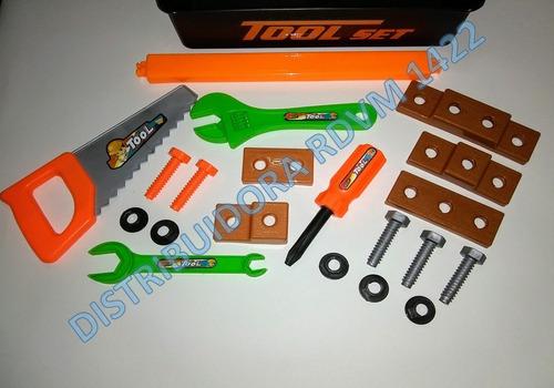 set de herramientas para niños de 3 y mas años.