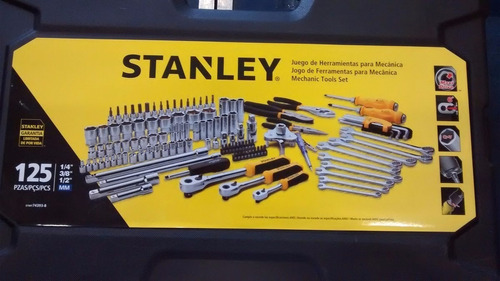 set de herramientas stanley de 125 piezas stmt74393-840