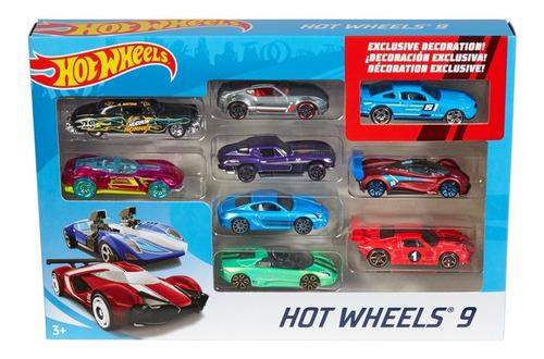 set de hot wheels 9 carritos juguetes