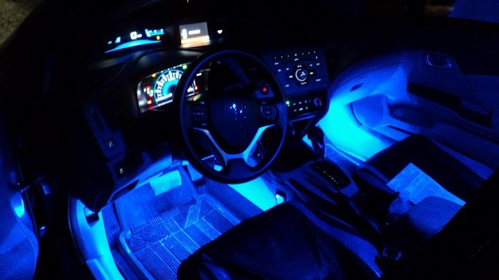 Set De Iluminacion Led Azul Tuning Para Interior De Autos