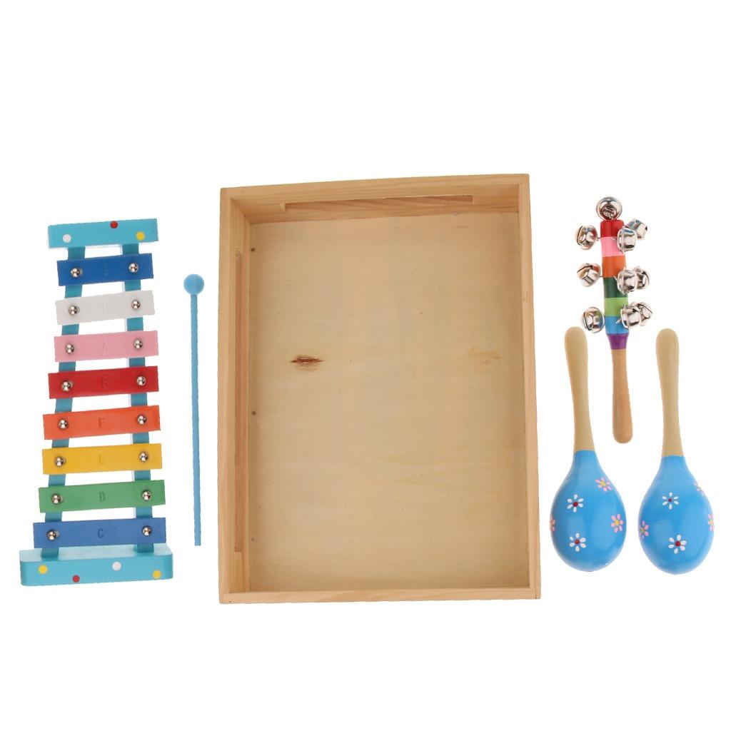 Set De Instrumentos Percusión Para Niños Xilófono De