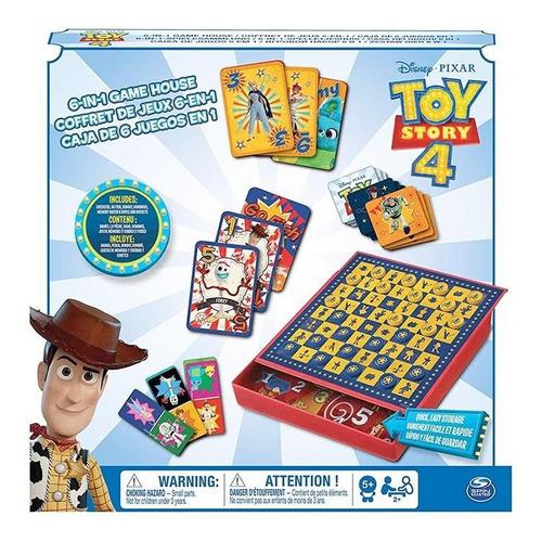 set de juego de mesa 6 en 1 spin master toy story 4