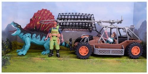 set de juego dinosaurios y exploradores - el duende azul
