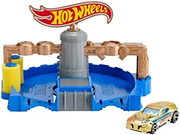 Set De Juego Hot Wheels Autolavado Clean Ride 1 167 01 En